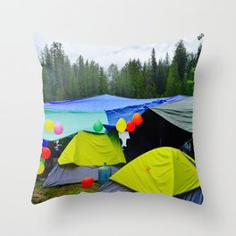 Camping Celebrations Throw Pillow