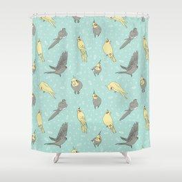 Cockatiel pattern Shower Curtain
