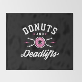 Donuts And Deadlifts Throw Blanket