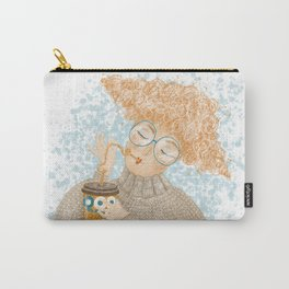 Redhead girl with coffee Carry-All Pouch