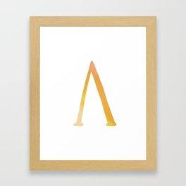 Greek Alphabet Letter Lambda Framed Art Print