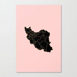 Iran map Canvas Print