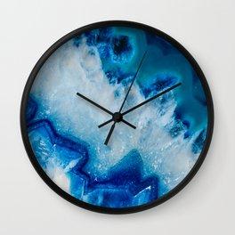 Royally Blue Agate Wall Clock