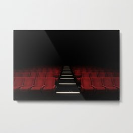 Red Theater Metal Print