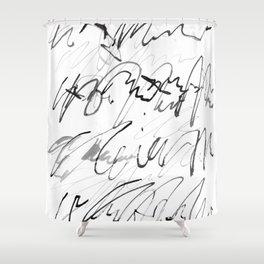 love letter to monster Shower Curtain