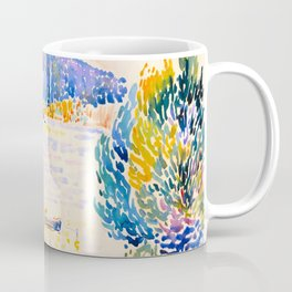 Henri-Edmond Cross Neo-Impressionism Pointillism Cap Nègre 1909 WatercolorPainting Coffee Mug