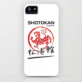 Shotokan Karate Tiger iPhone Case