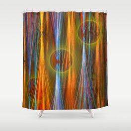 Mirthful, colourful abstract Shower Curtain