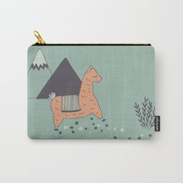 Sleep Walking Llama Carry-All Pouch