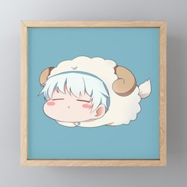 Gintama - Gintoki Cute Framed Mini Art Print