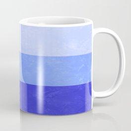 Blue Grunge Stripes Coffee Mug