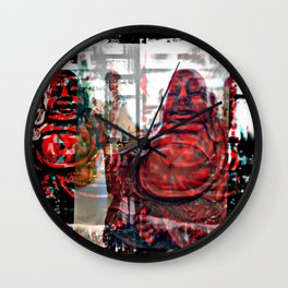Mom's Buddha  Wall Clock