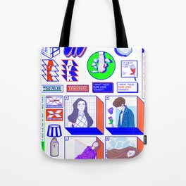 f(x) — 4 Walls (Sticker Pack Ver.) / Spectrum Tote Bag