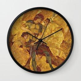 Edward Burne-Jones - Cupids Hunting Fields Wall Clock