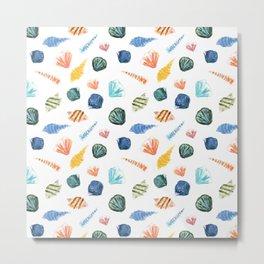 Colorful Shells Pattern No. 3 Metal Print