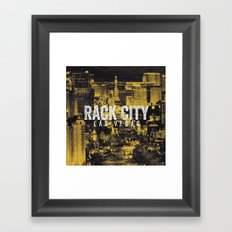 Black Yellow Cool Rack City Las Vegas Photography Framed Art Print