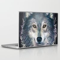 wolf Laptop & iPad Skins featuring Wolf by Laura Graves