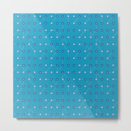 Circuitry Bluesy Blue Metal Print