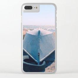 Blue boat Clear iPhone Case
