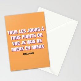 Couéism Stationery Cards