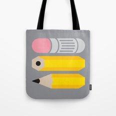 Deconstructed Pencil Tote Bag