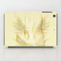 angel wings iPad Cases featuring WINGS OF AN ANGEL by RenataV