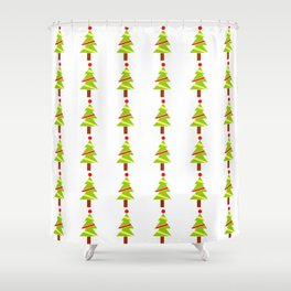Christmas tree 3 Shower Curtain