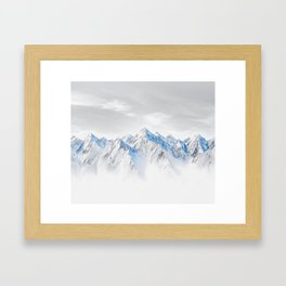 Snow Capped Mountains Framed Art Print