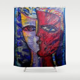 Man in Thoughts Shower Curtain