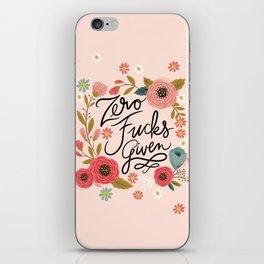 Pretty Swe*ry: Zero Fucks Given, in Pink iPhone Skin