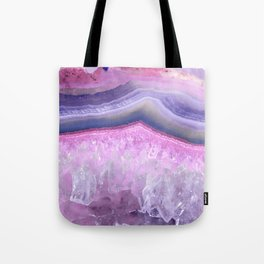 Ultraviolet and Pink Agate Tote Bag