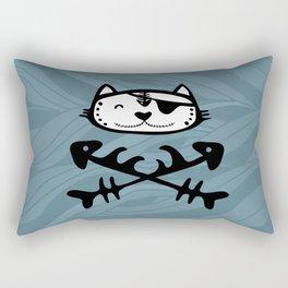 Pirate cat Rectangular Pillow