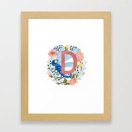 D is for Dragonfly Framed Art Print