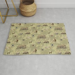 Safari Animals Pattern Rug