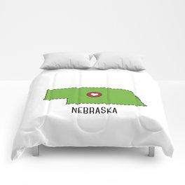 Nebraska State Heart Comforters