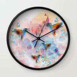 Digital fantasy hummingbird Wall Clock
