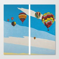hot air balloons Canvas Prints featuring Hot Air Balloons by Shelley Chandelier