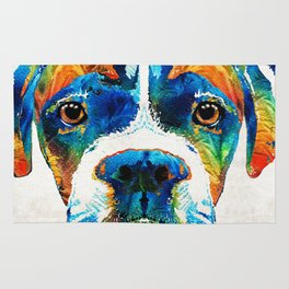 Colorful Boxer Dog Art By Sharon Cummings Rug