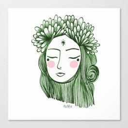 Miss Aster Canvas Print