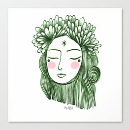 Miss Aster Canvas Print
