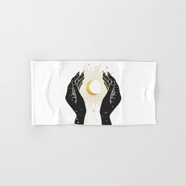 Gold La Lune In Hands Hand & Bath Towel