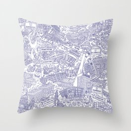 Illustrated map of Berlin-Mitte. Ink pen design Throw Pillow