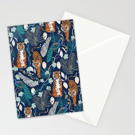 Tiger Toile on Navy Stationery Cards