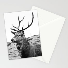 The Stag on the hill - b/w Stationery Cards