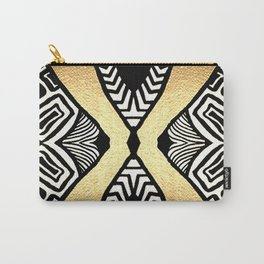 Gold and Black Carry-All Pouch