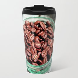 Coffee Beans in Manson Jar Travel Mug