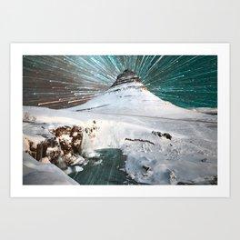Iceland Night Art Print