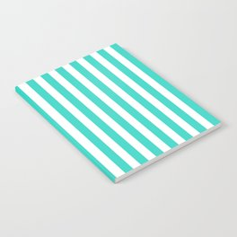STRIPED DESIGN (TURQUOISE-WHITE) Notebook