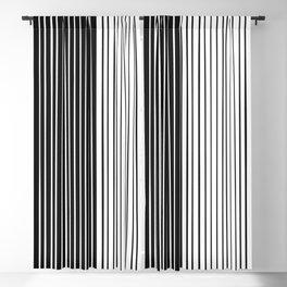 Stripe Half Black Half White Blackout Curtain