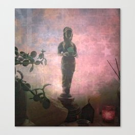 We Can't See Through Her, But She Lets The Light In Canvas Print